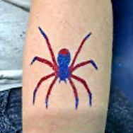spider glitter tattoo