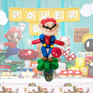 Super Mario video game balloon twisting at party Wellington New Zealand