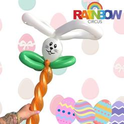 Rabbit on a carrot balloon