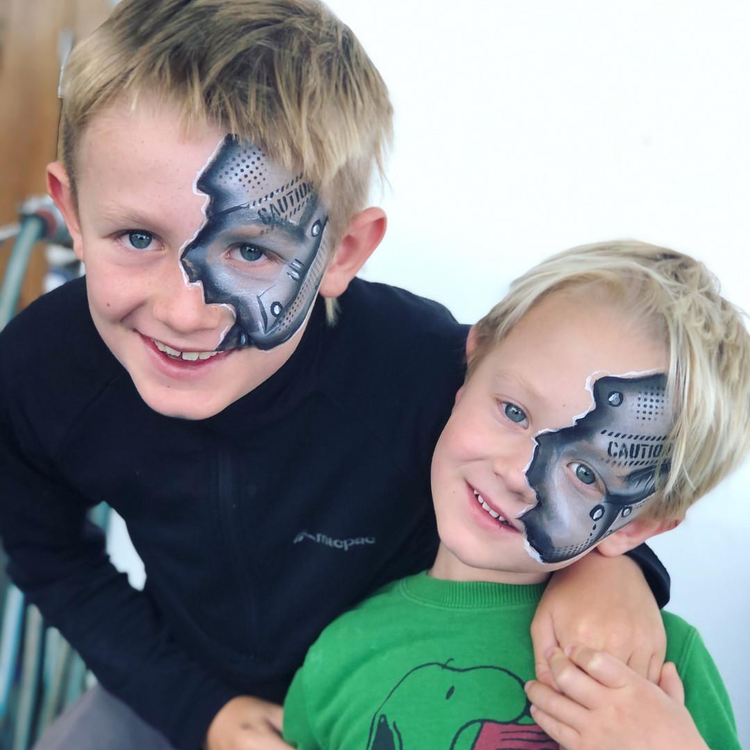 Cyborg Terminator face paint