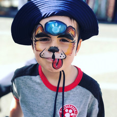 Paw Patrol Chase face painting