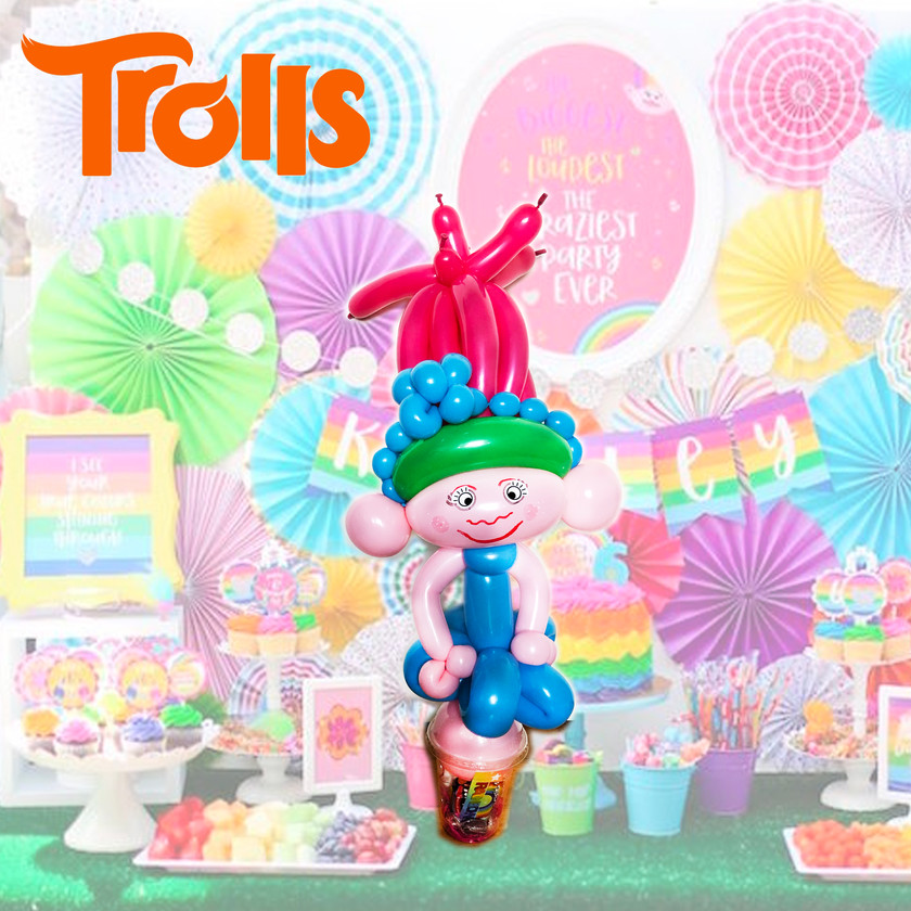 Poppy Trolls balloon twisting Wellington New Zealand