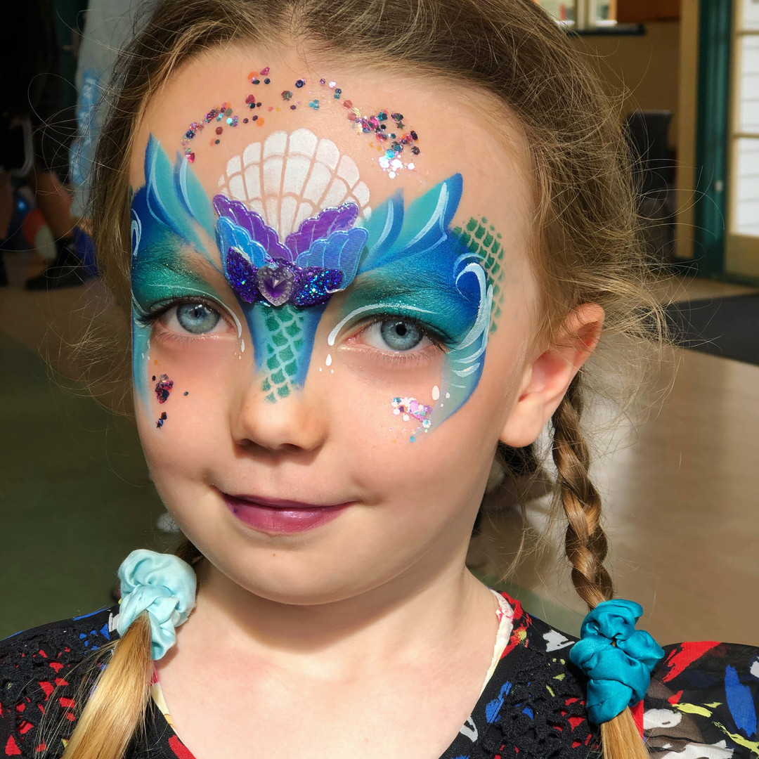 Mermaid tail face paint