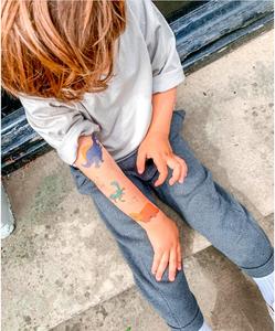 dinosaur temp tattoos Wellington New Zealand