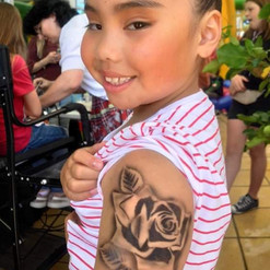rose airbrush tattoo