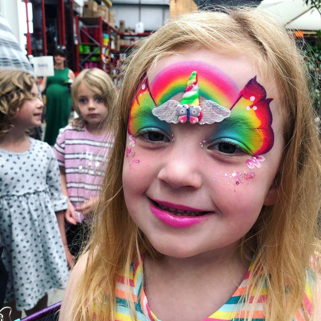 Butterfly unicorn fairy face paint