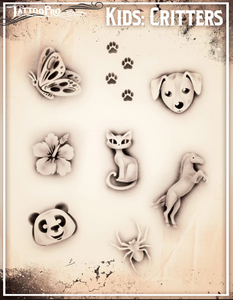 Kids Temporary Airbrush Tattoos dog cat flower horse butterfly panda animalsWellington New Zealand