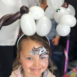 White Horse balloon headband