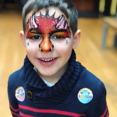 fire dragon face paint