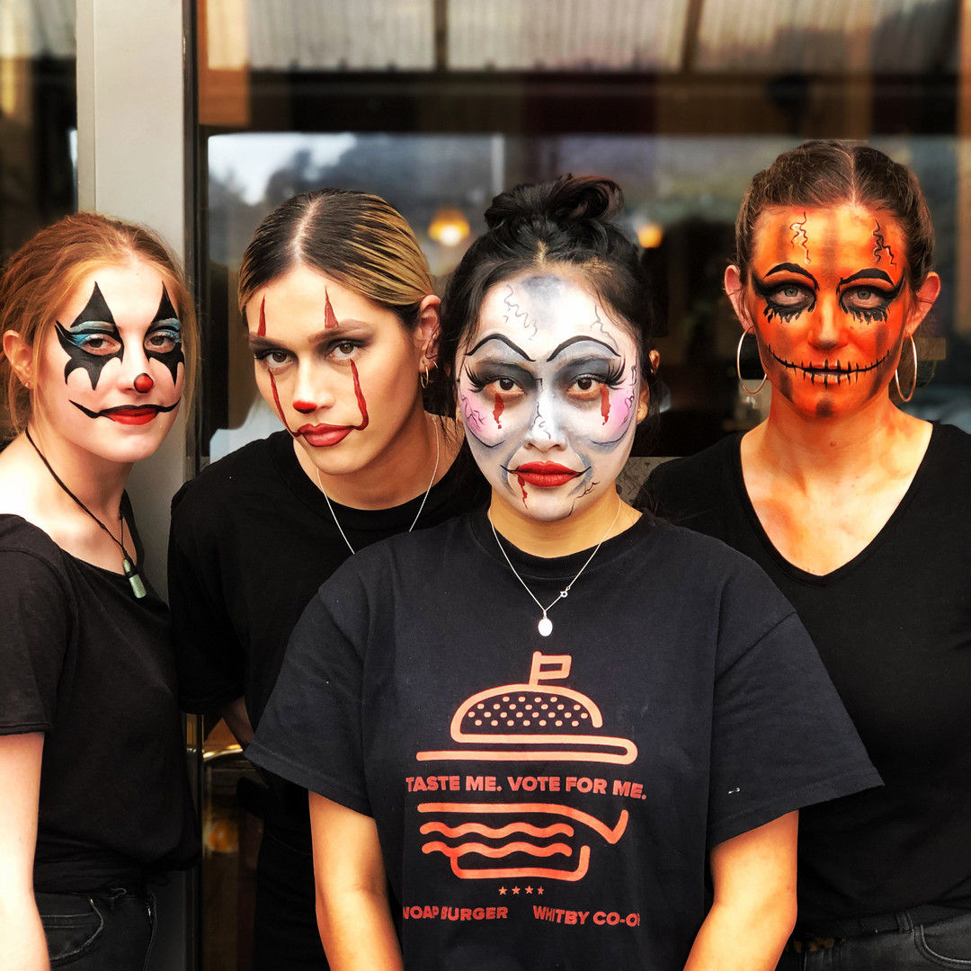 scary Halloween gang face paint