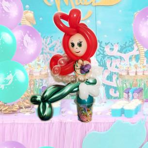 mermaid Ariel balloon twisting Wellington New Zealand