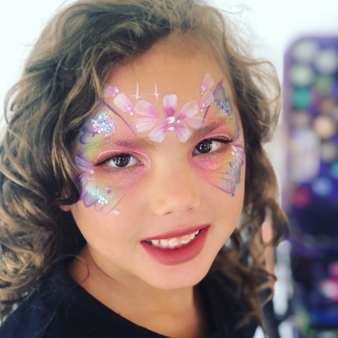 pastel butterfly face paint
