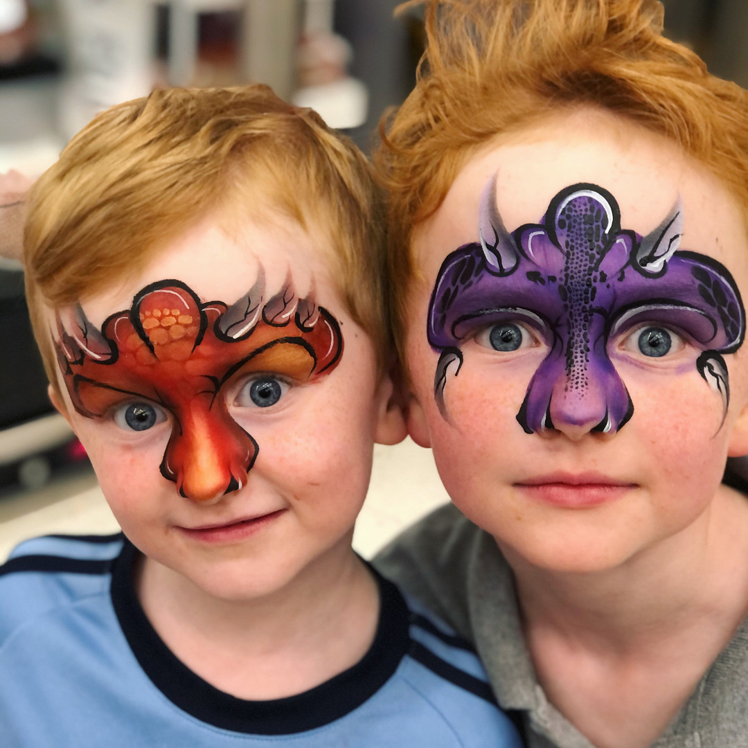 Dragon brothers face paint
