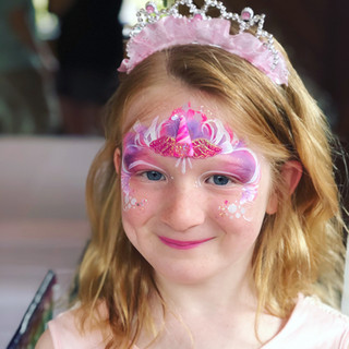 Pink Princess Face Paint