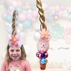 unicorn headband balloon