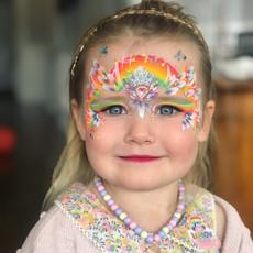Rainbow princess face paint