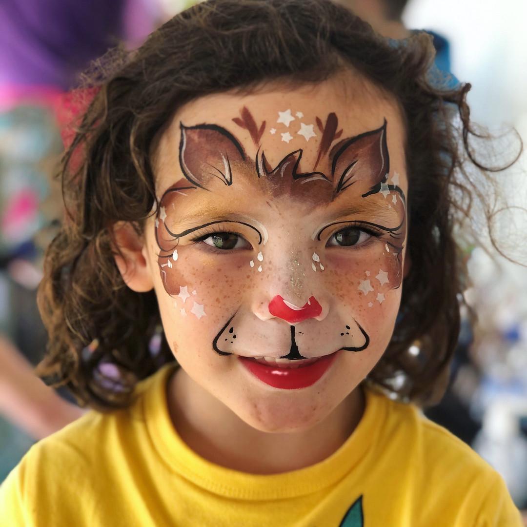 Reindeer deer face painting