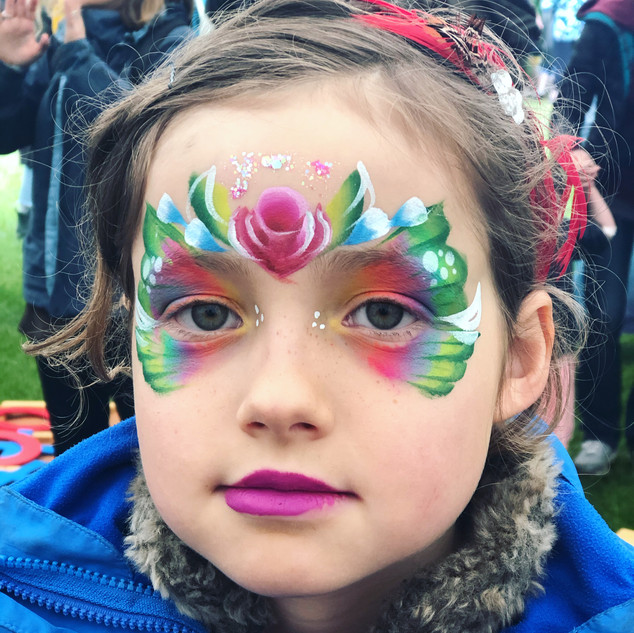 flower butterfly fairy face paint