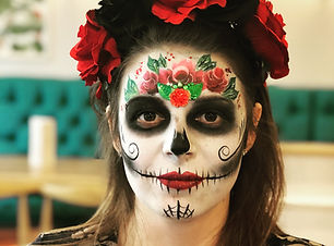 women with sugar skull face paint  Wellington New Zealand