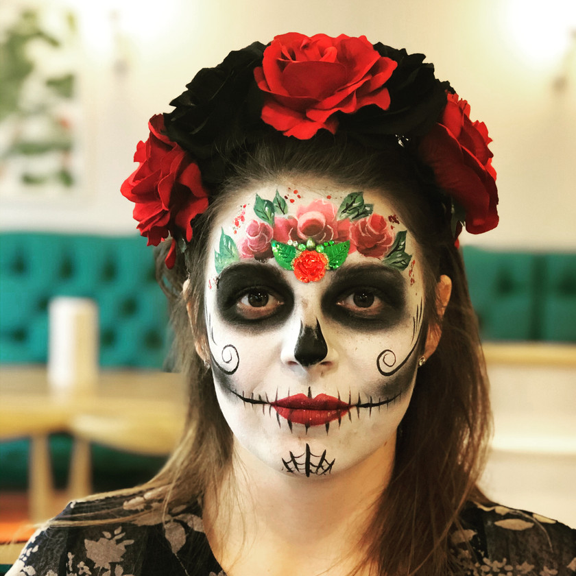 Sugar Skull Day of the Dead face painting wellington New Zealand