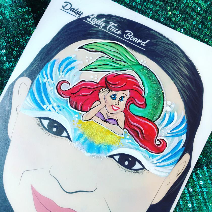 Ariel mermaid face painting Wellington New Zealand