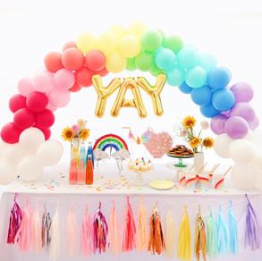 Rainbow yay balloon garland