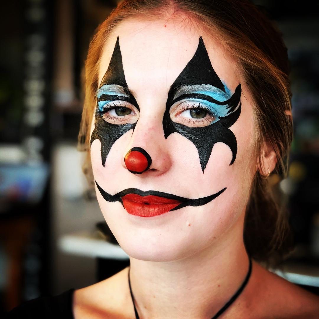 Clown adult face paint