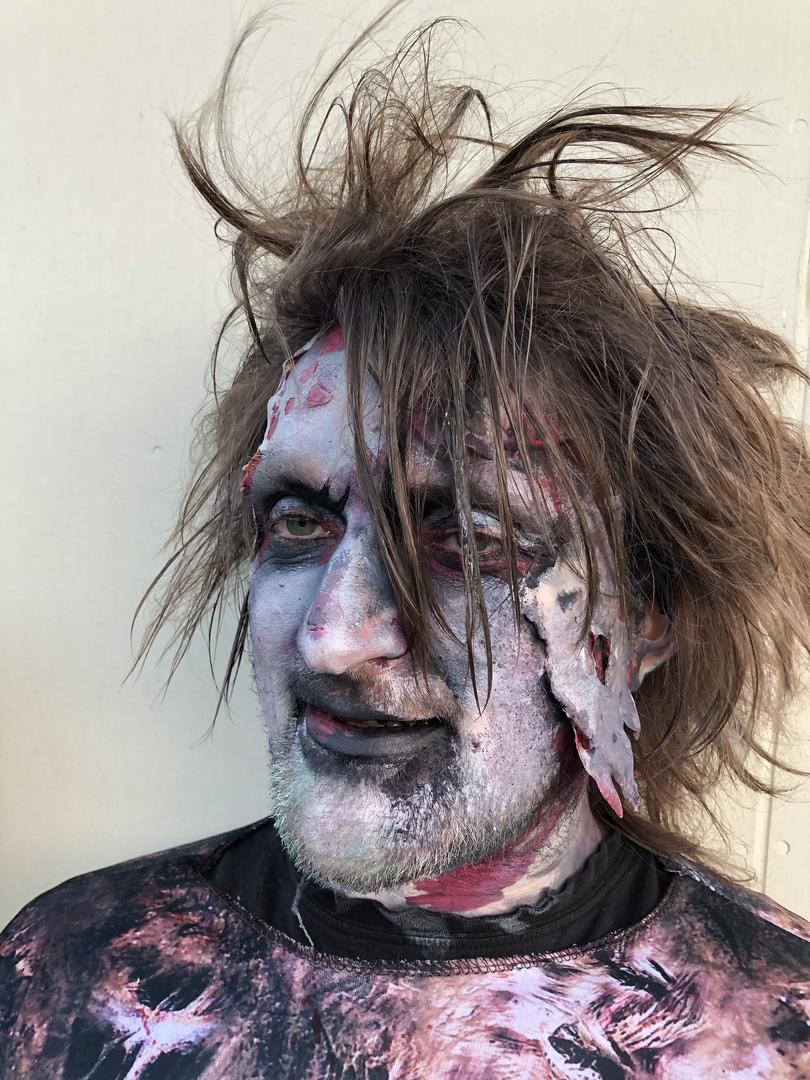 Zombie adult face paint prosthetics