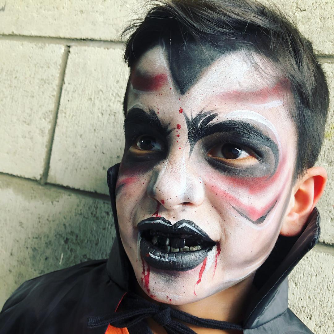 Dracula face painting