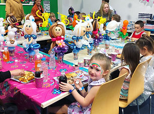 Frozen balloons at a birthday party  Wellington New Zealand