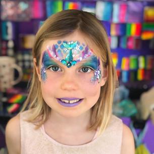 mermaid girl face painting Wellington New Zealand