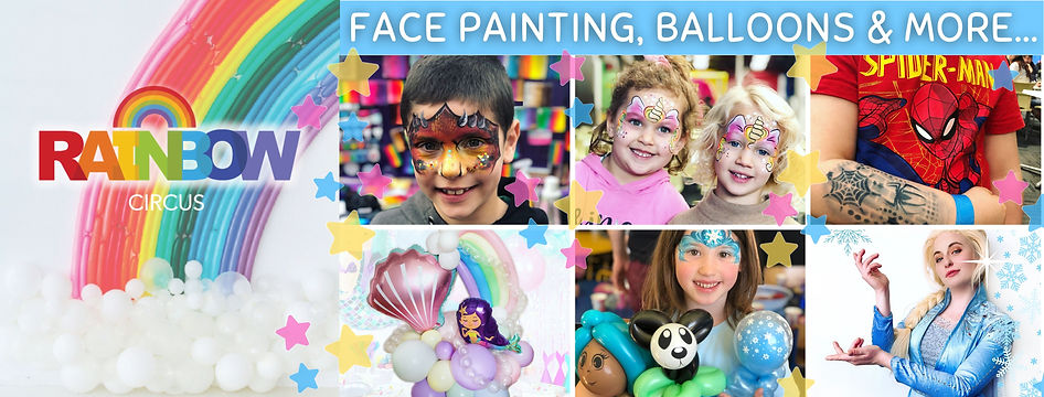 Rainbow Circus Wellington New Zealand Entertainment face painting and balloon twisting party entertainment