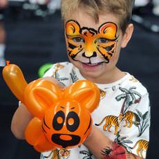 Tiger boy face paint