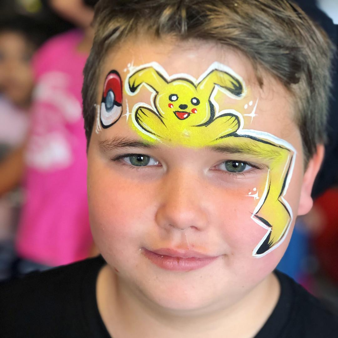 Pikachu Pokemon face painting