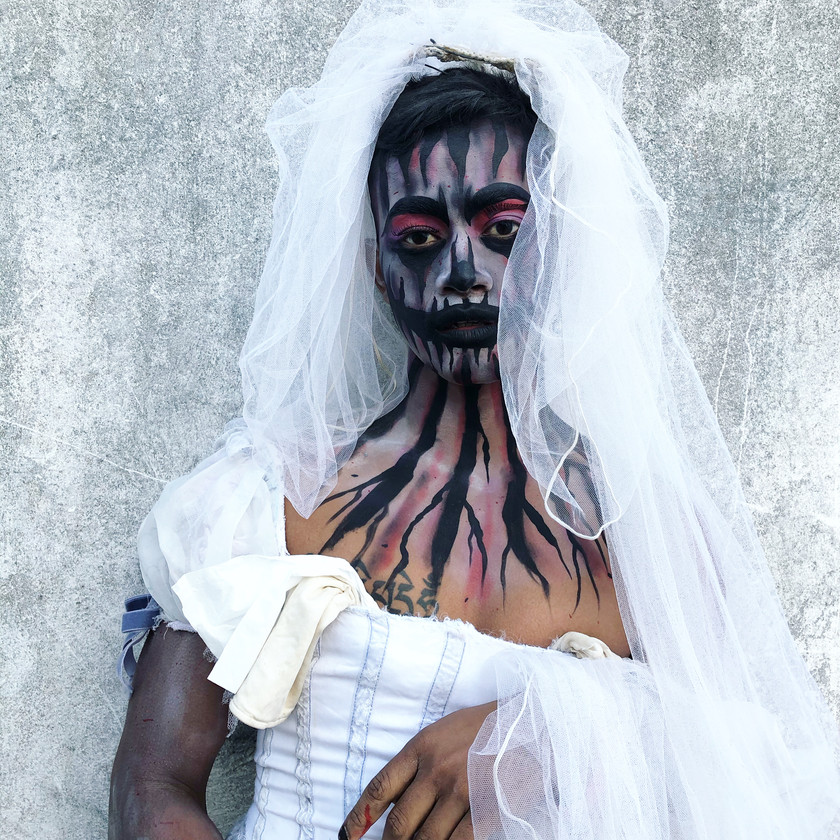 corpse bride Halloween face painting wellington New Zealand