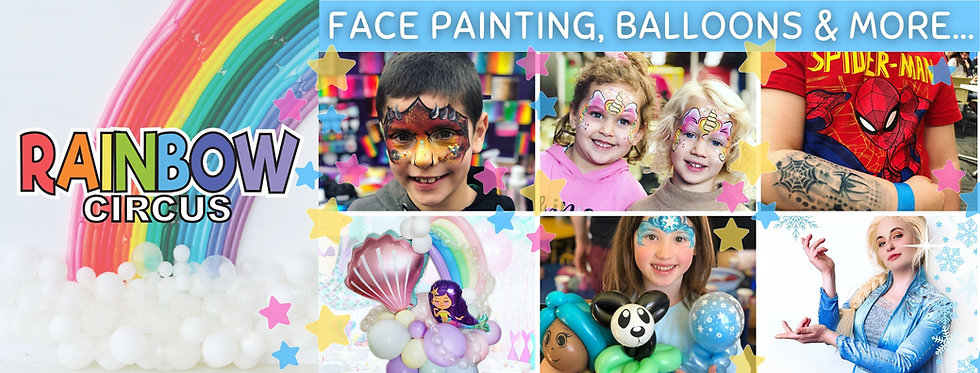Rainbow Circus face painting & balloon twisting