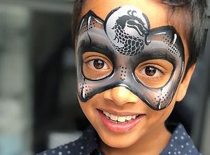 Ninja face paint Wellington New Zealand