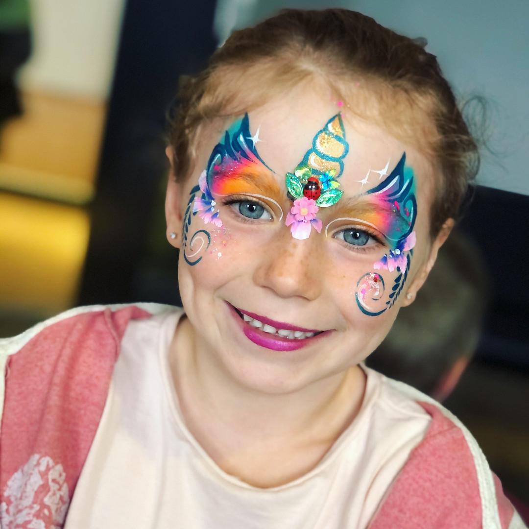 unicorn fairy face paint