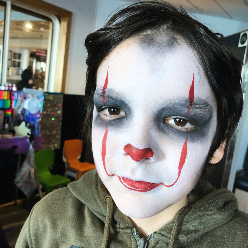 Pennywise boy Halloween face painting wellington New Zealand