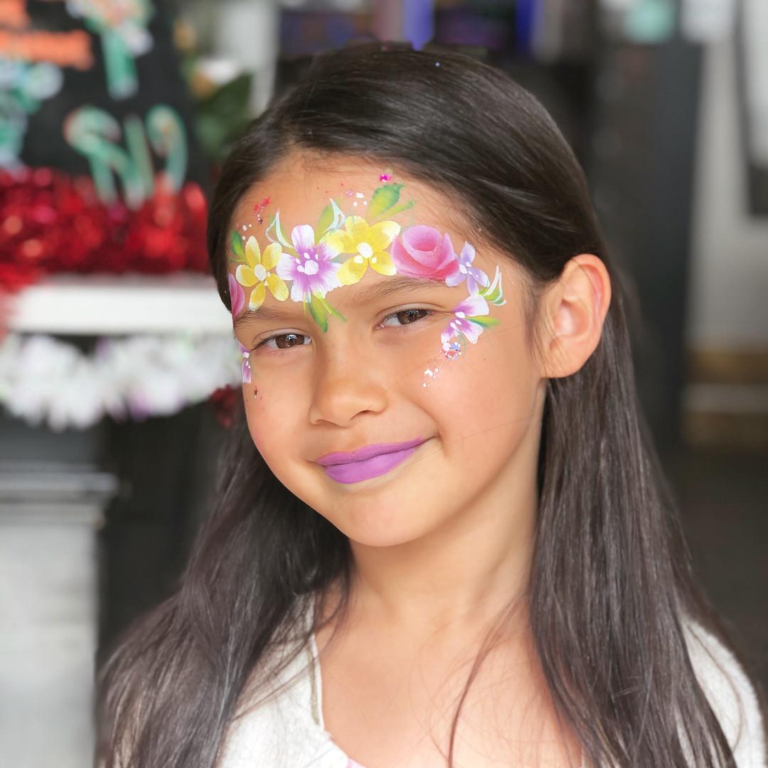 Flower crown face paint