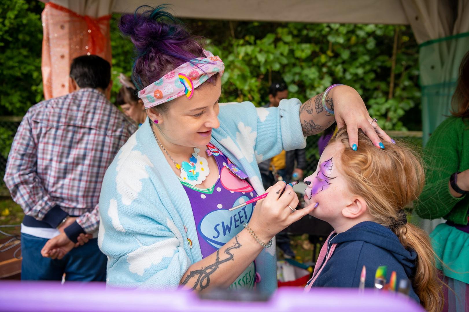 Cherry Rainbow Circus Face Painters Wellington New Zealand