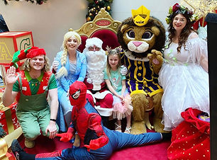 corporate Christmas event Santa, Fairy, Elf, Spiderman, Elsa characters entertainment Wellington New Zealand