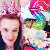 Rainbow unicorn balloons
