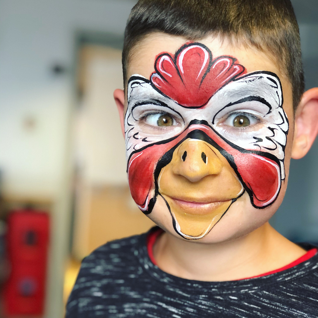 Chicken Rooster face painting