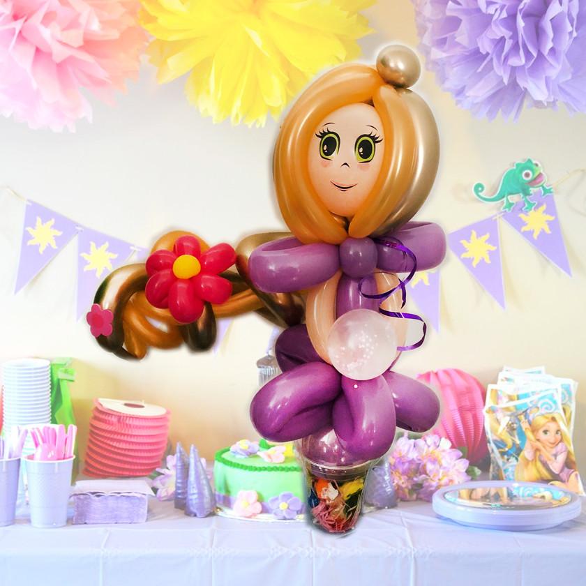princess Rapunzel balloon twisting Wellington New Zealand