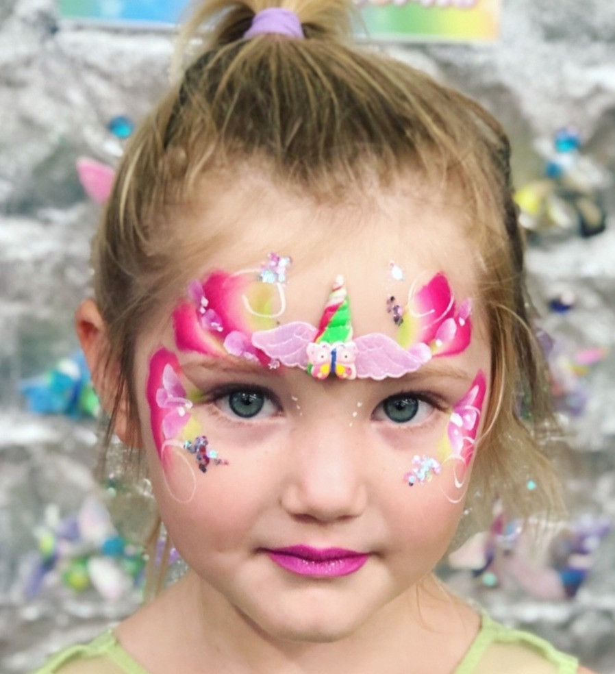 Fairy princess face paint with
