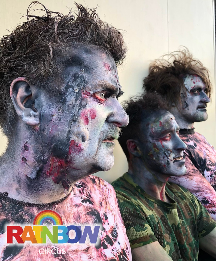 Zombies face painting
