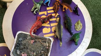dinosaur workshop at Queensgate