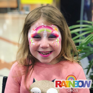 unicorn face painting at Johnsonville Shopping Centre Wellington New Zealand