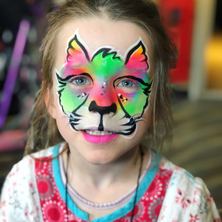rainbow cat face paint